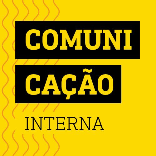 Quadro amarelo lettering Comunicação interna estratégia