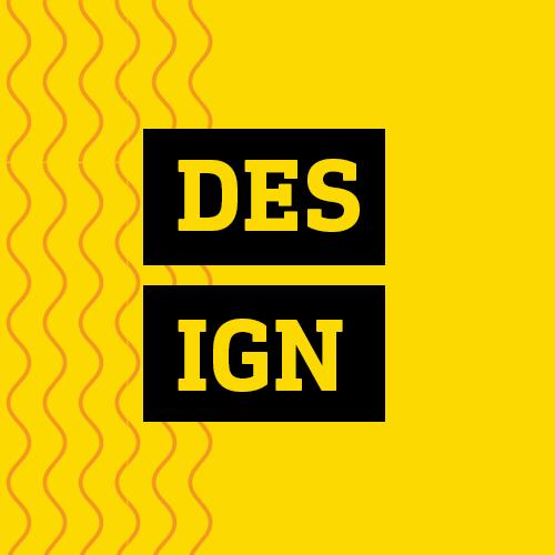 Quadro amarelo lettering design estratégia