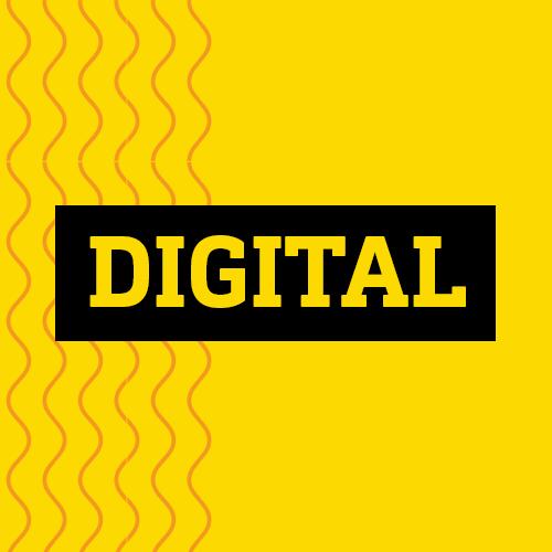 Quadro amarelo lettering digital estratégia