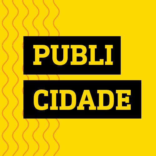 Quadro amarelo lettering publicidade