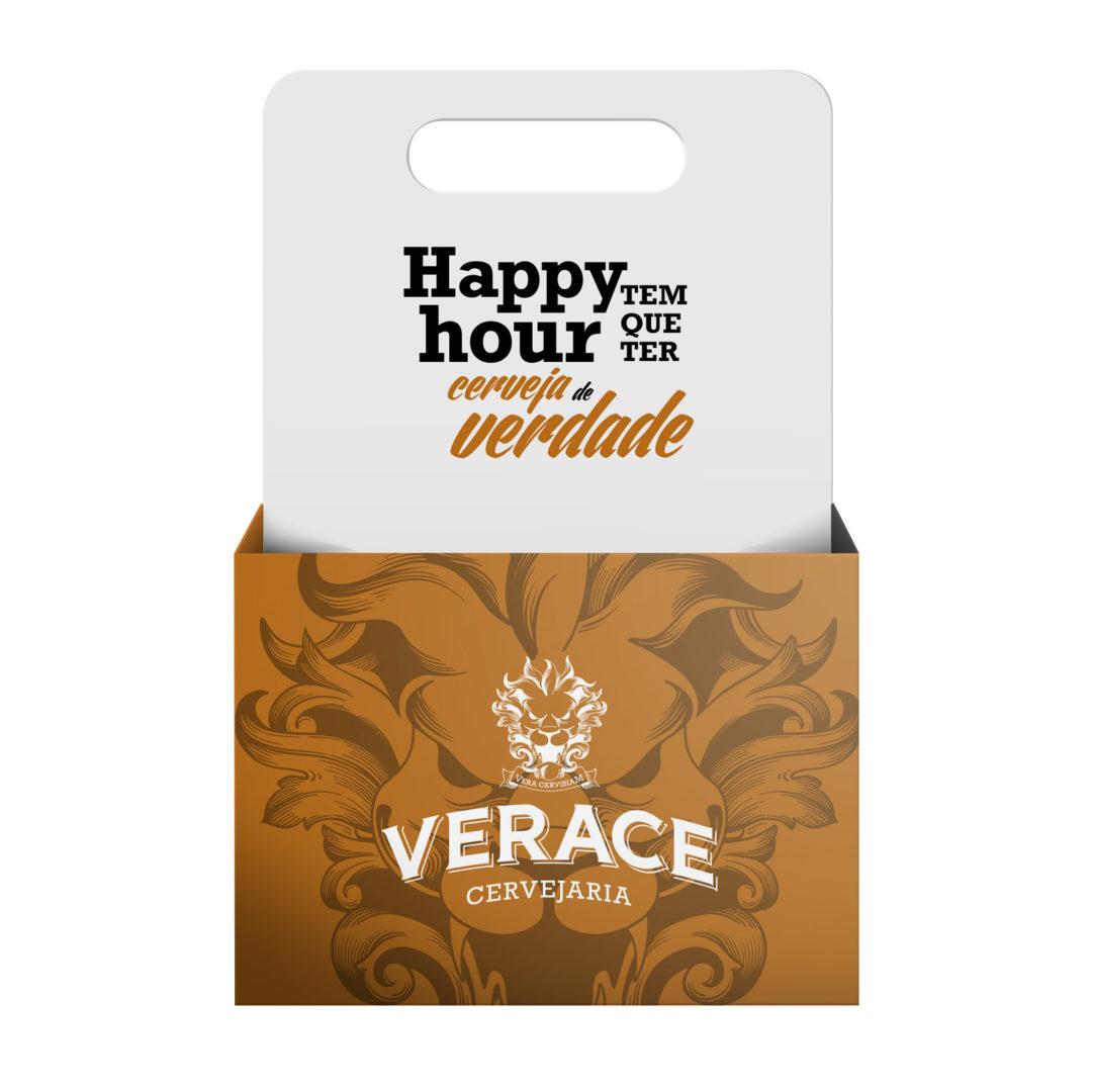 Simulação de embalagem para pack de cervejas Verace
