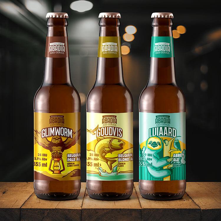 Simulação de garrafas de cerveja