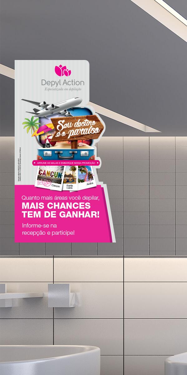 Simulação de material de divulgação de campanha. Publicidade